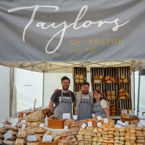 The team at the Royal Bath and West show 2018 with new Taylors branding!